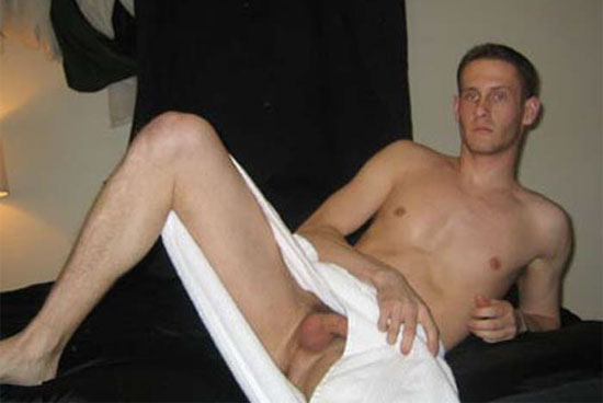 amateur shows off his cock and balls